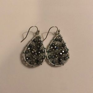 Small Silver and Gray Earrings